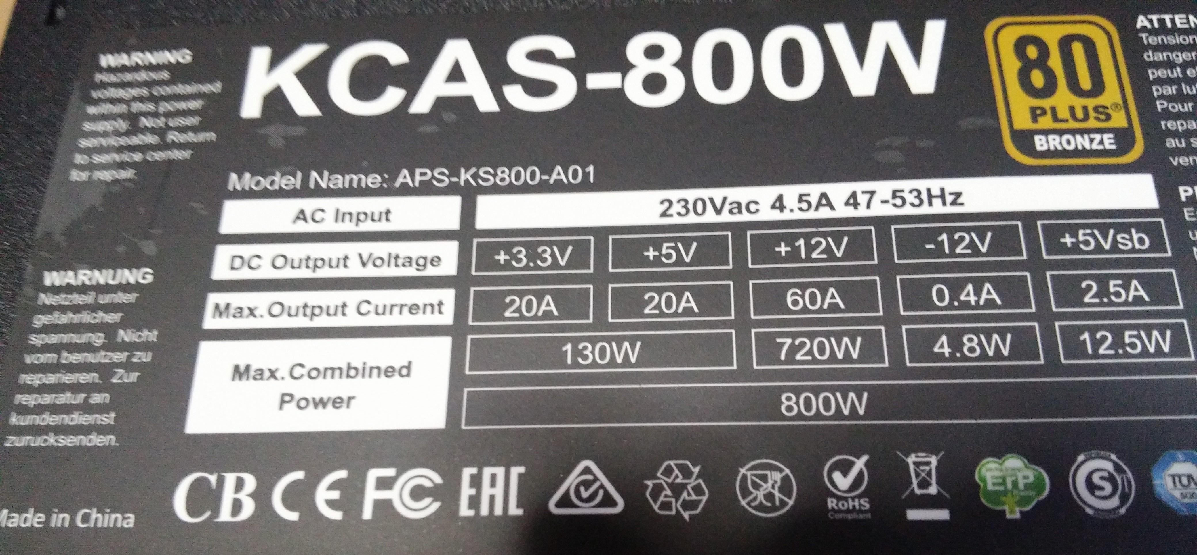 KKmoon Fuente de alimentaci/ón KKmoon 1800 W para ethereum S9 S7 L3 Rig miner/ía 180-260 V conmutada al 90 /% y de alta eficiencia Wire without Net